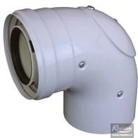 odkouření kondenzační Regulus - koleno 90° s inspekčním otvorem 60/100 PP/plech