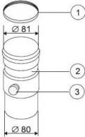 odkouření Protherm zachycovač kondenzátu 80 mm (Z2)