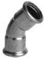 P6041 oblouk 45° 22 -  měděná press tvarovka - topení ixi