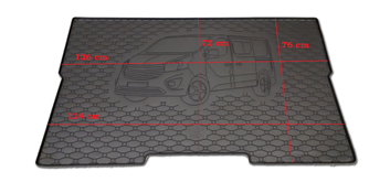 Gumové vany do kufru Opel Vivaro 06/2014-