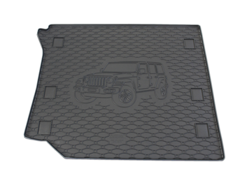 Gumové vany do kufru Jeep Wrangler 01/2019-