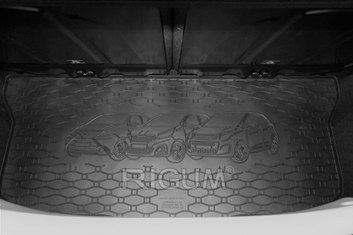 Gumové vany do kufru Toyota Aygo 05/2014-