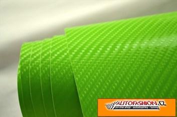 4D prostorová carbonová zelená fólie samolepicí 150x180cm