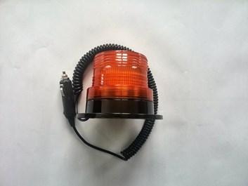 LED oranžový maják na 12V i 24V s 50xSMD diodami průměr 10cm