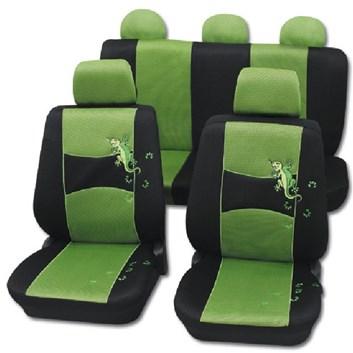 Autopotahy na celé auto univerzální černo-zelené s Ještěrkou