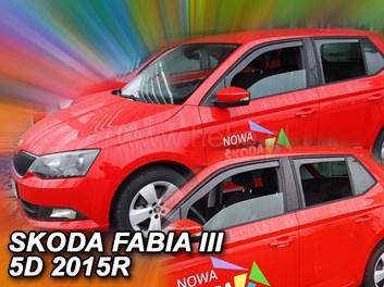 Ofuky oken Škoda Fabia III HB/Combi od r.v. 2014 zadní + přední