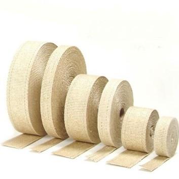 Bílá termo izolační páska na svody a výfukové potrubí - 25mm x 4,5m