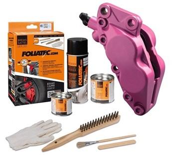FOLIATEC dvousložková barva na brzdy růžová (Pink metallic)