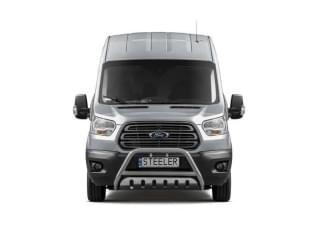 Přední rám nerez se spodním chráničem a EC homologací Ford Transit VIII, 2013 ->