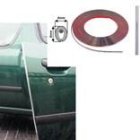 Carbonová nasazovací lišta na hranu dveří auta délka 15m, tvar U