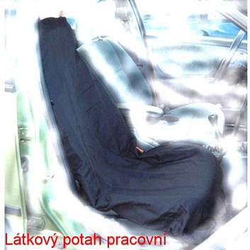 Pracovní autopotahy černý šusťák na sedačku pratelné SADA 2ks