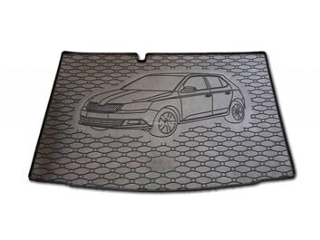 Vana do kufru gumová Škoda Fabia III HB od r.v. 2014 s logem auta