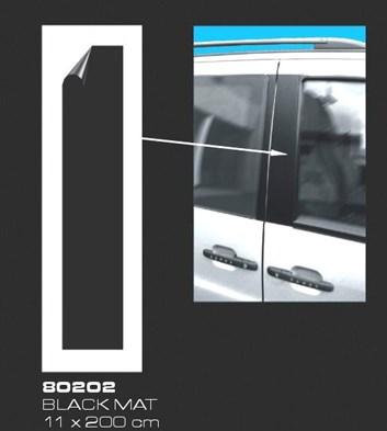 Fólie na sloupky dveří a prahy černá silná matná 11x400cm