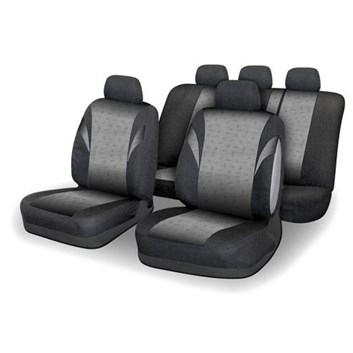 Autopotahy šedé + černé na sedadla celého auta airbag