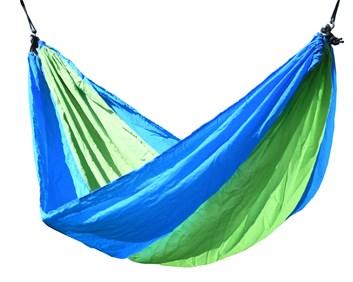 Houpací síť zeleno-modrá NYLON 275x137cm