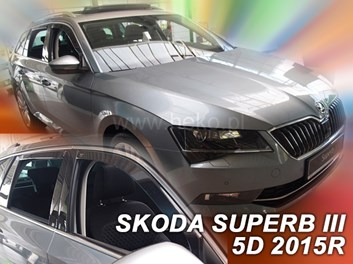 Ofuky oken Škoda Superb III Combi 5dv od r.v. 2015 přední + zadní