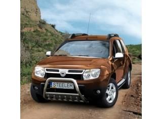 Ochranný přední rám se zuby nerez s EC homologací Dacia Duster I, 2010 - 2014