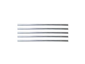 Chromové nasouvací U lišty 13cm délka, 6 kusů na mřížky ventilace