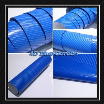 4D prostorová carbonová modrá fólie samolepicí 150x180cm