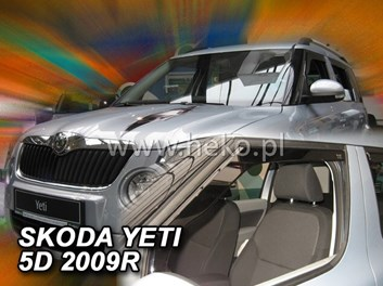 Ofuky oken Škoda Yeti 5dv od r.v. 2009 přední