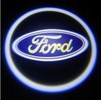 Svítící LED logo projektor FORD  ze dveří na silnici, sada 2 ks