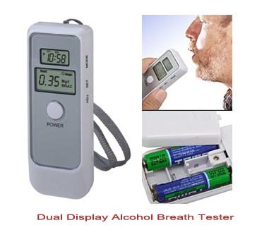 Digitální alkohol tester + LCD displej + digitální hodiny