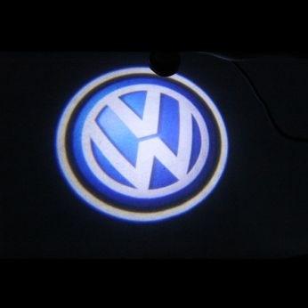 Svítící LED logo projektor VW ze dveří na silnici, sada 2ks