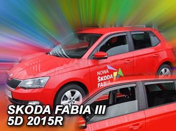 Ofuky oken Škoda Fabia III 5dv HB/Combi od r.v. 2014 zadní + přední