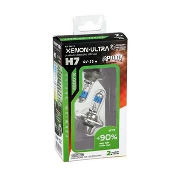 Žárovky H7 12V 55W XENON HALOGEN + 90% svítivost sada