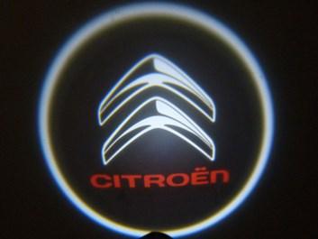 Svítící LED logo projektor CITROEN ze dveří na silnici, sada 2 ks