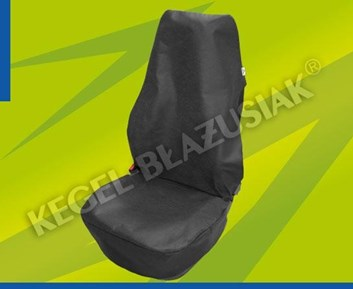 Ochranné potahy do auta na přední sedačky černé látkové 2 kusy