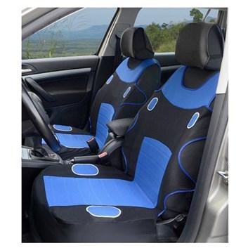 Autopotahy univerzální přední černo-modré 2 kusy + potahy opěrky
