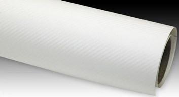Carbonová fólie bílá matná 3D plastická 150x180cm
