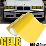 Průhledná barevná fólie na světla žlutá průsvitná 100x30cm