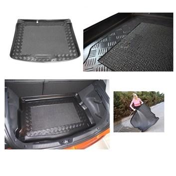 Plastová vana do kufru s protiskluzem Škoda Yeti od r.v. 2009 se sadou na opravu pneu v kufru