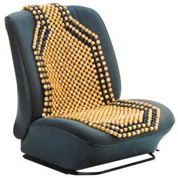 Potah sedadla kuličkový vzdušný přírodní dřevo světlé korálky