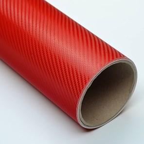 Carbonová fólie červená 3D 150x180cm matný karbon samolep
