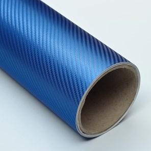 Carbonová fólie modrá 3D plastická 152x180cm matná NE tisknutá!