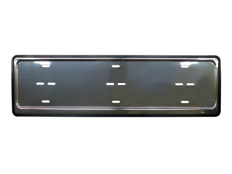 Podložka pod SPZ nerezová rámeček nerez s gumovým okrajem