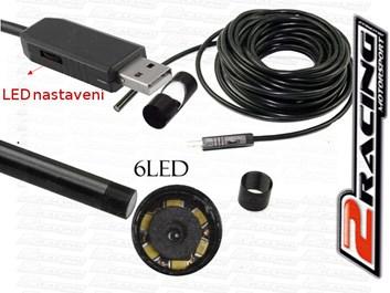 USB Endoskop vodotěsná inspekční kamera se světlem