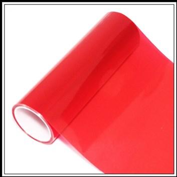 Průhledná barevná fólie na světla Červená průsvitná 150cm x 30cm