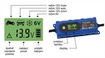 Pulzní nabíječka baterie do auta na 6V a 12V až do 120 Ah