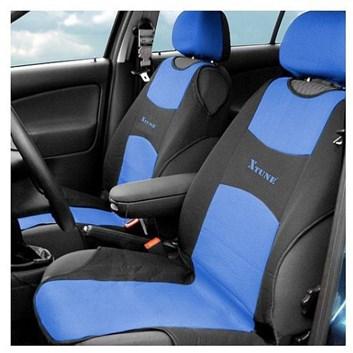 Autopotahy TRIKO přední modré s černou Premium sada