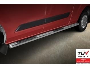 Boční stupačky nerez s prohloubením Ford Custom Transit, 2012 ->