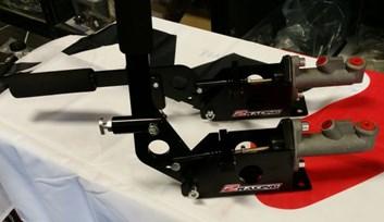 Hydraulická ruční brzda s alu válečkem 17mm- na závod rally - 2Racing