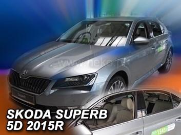 Ofuky oken Škoda Superb III Liftback 5dv od r.v. 2015 přední + zadní