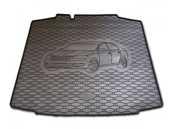Vana do kufru gumová Škoda Rapid od r.v. 2012 s logem auta
