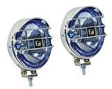 Přídavná dálková kulatá světla s chromovou mřížkou 12V H3 SADA
