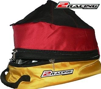 Taška na přilbu helmu karting moto rally černo červeno žlutá