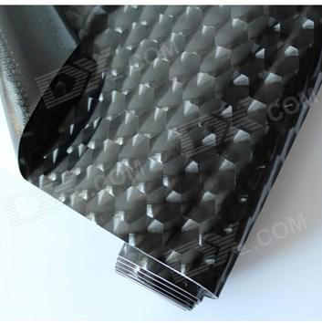 Černá 4D samolepicí fólie vodní kostky - kočičí oči 180x150cm